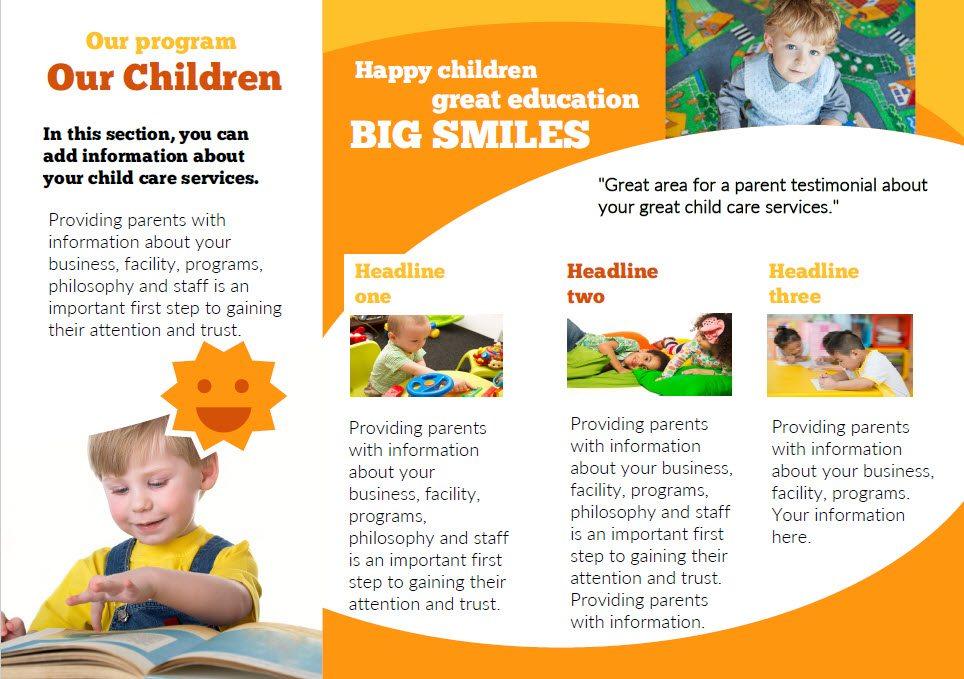 Childcare Flyer Pasoevolistco - Child care brochure template