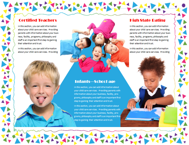 Child Care Brochure Template 19 - Child Care Owner