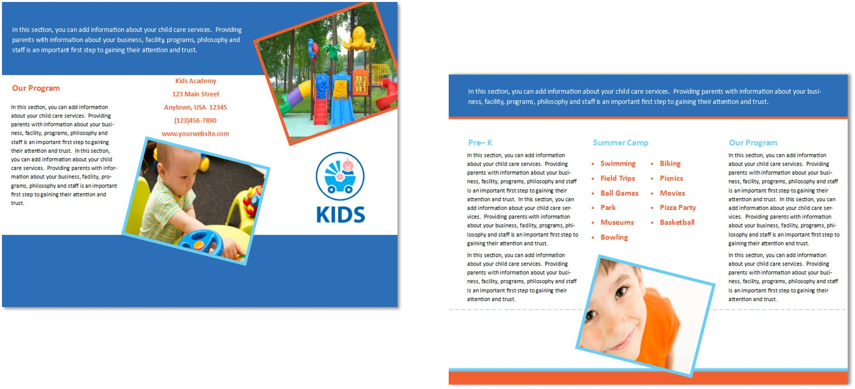 child care brochure template 30 child care owner child care business cards child care folders child care marketing preschool marketing