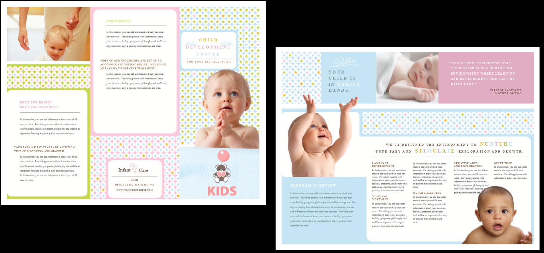 child care brochure templates - child care brochure template 8 child care owner