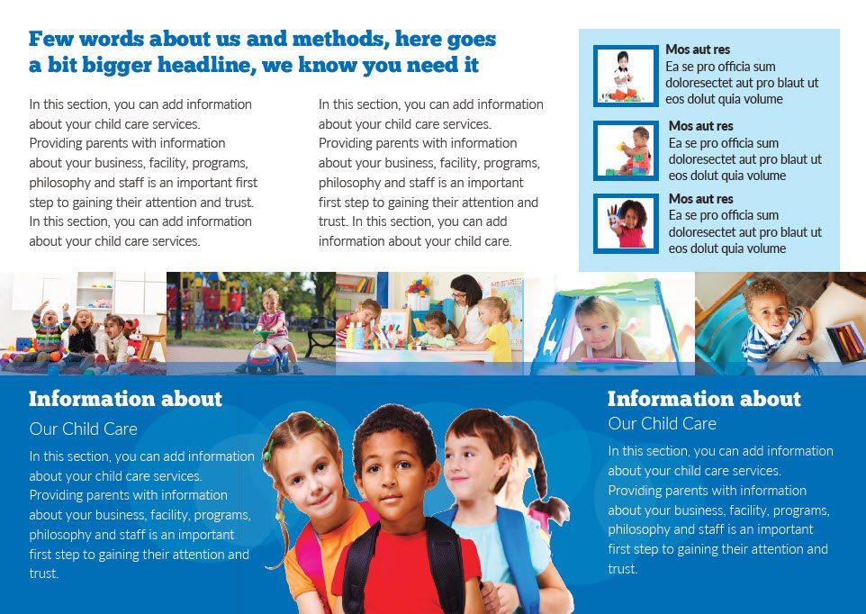 Preschool Flyer Template Ibovnathandedecker