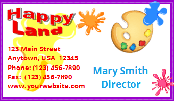 daycare business cards Archives - Child Care Owner