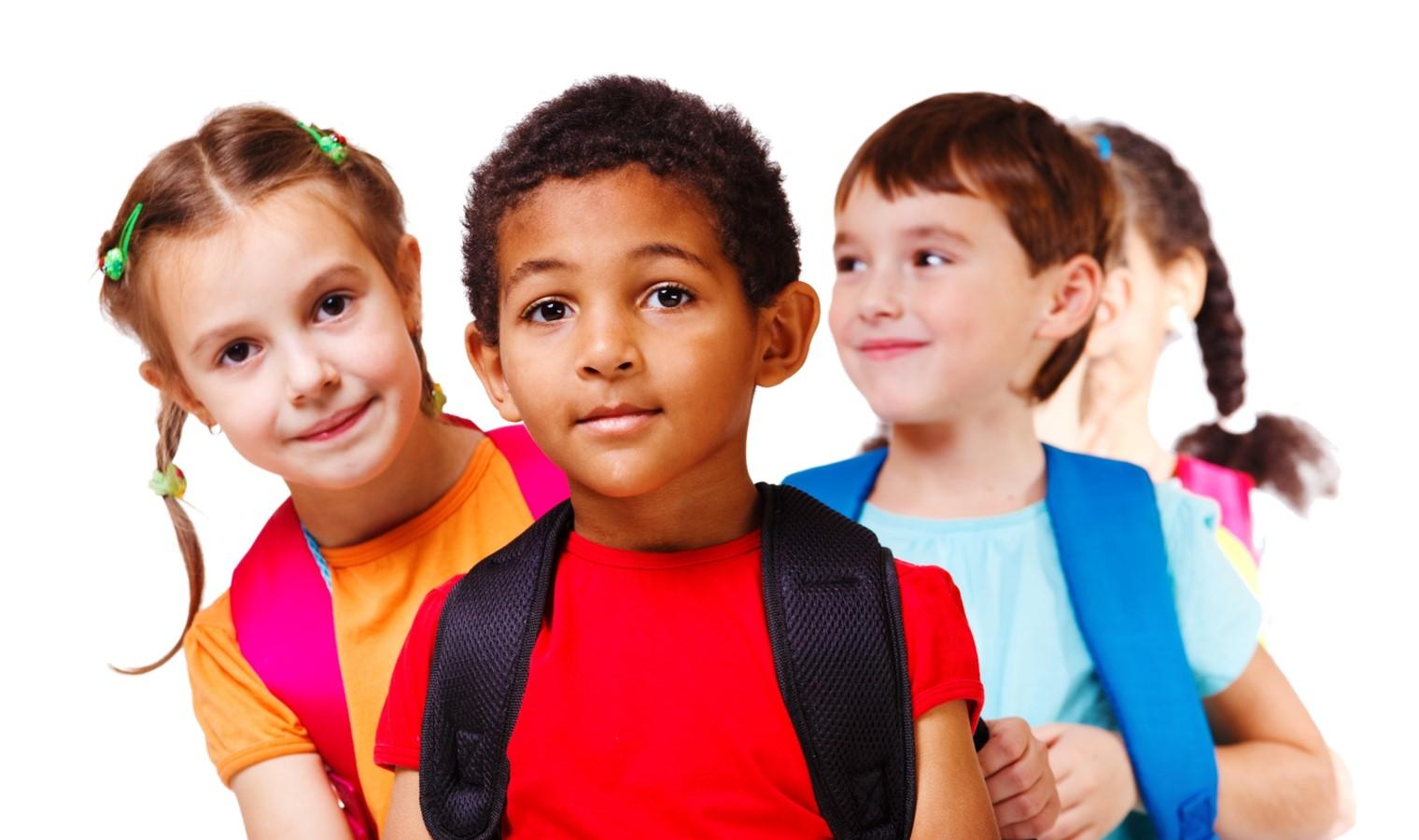 school age children w transparent background