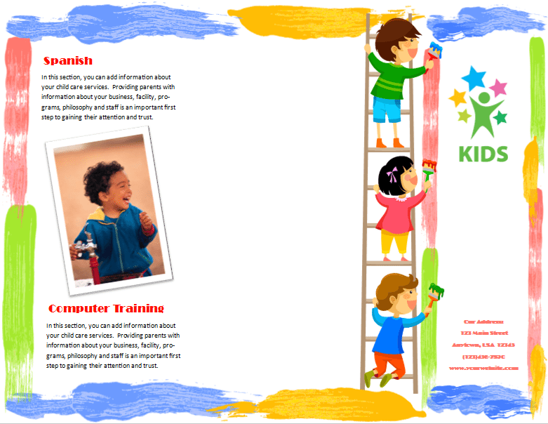 Child Care Brochure Template 10 - Child Care Owner