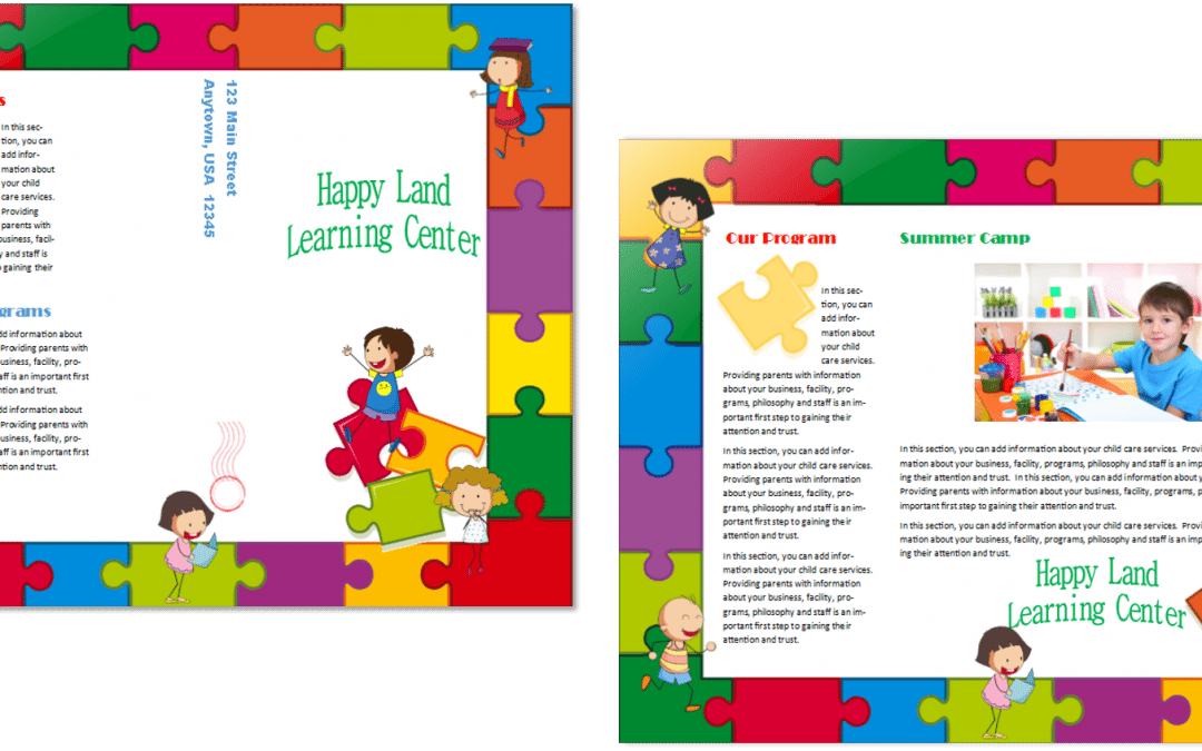 CCO Child Care Brochure 14 Template Inside and Out