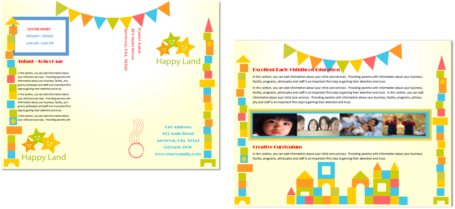 child care brochure template - child care brochure template 18 child care owner