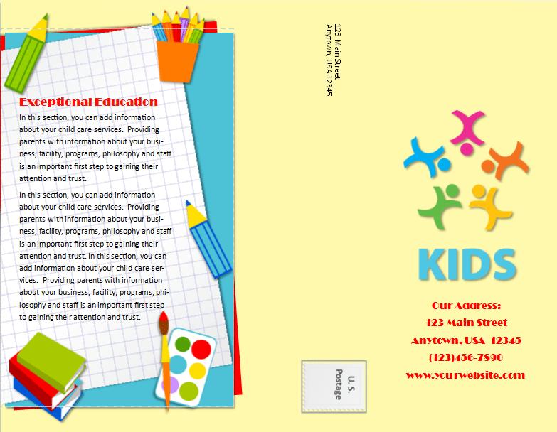 CCO Child Care Brochure 20 Template Outside