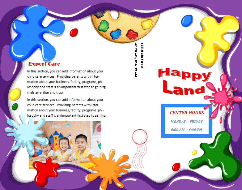 Child Care Brochure Template 21 - Child Care Owner
