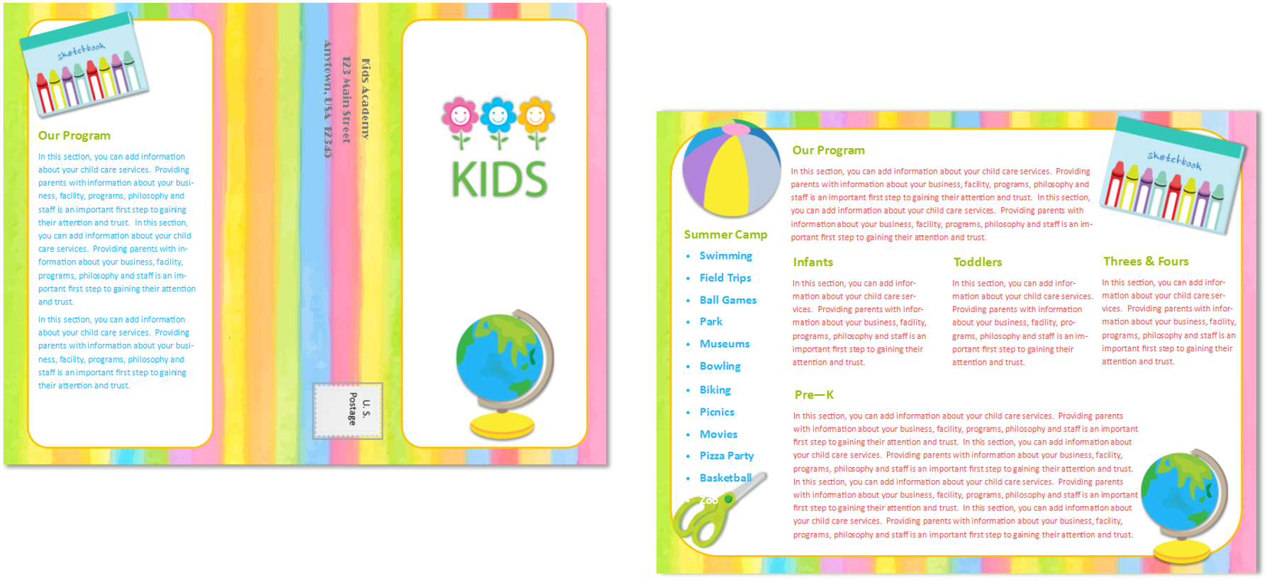 Child care brochure template 23 child care owner for Child care brochure template free