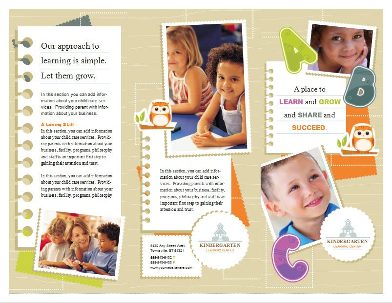 Child Care Brochure Template 5 - Child Care Owner