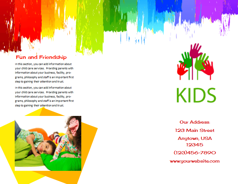Child Care Brochure Template 9 - Child Care Owner