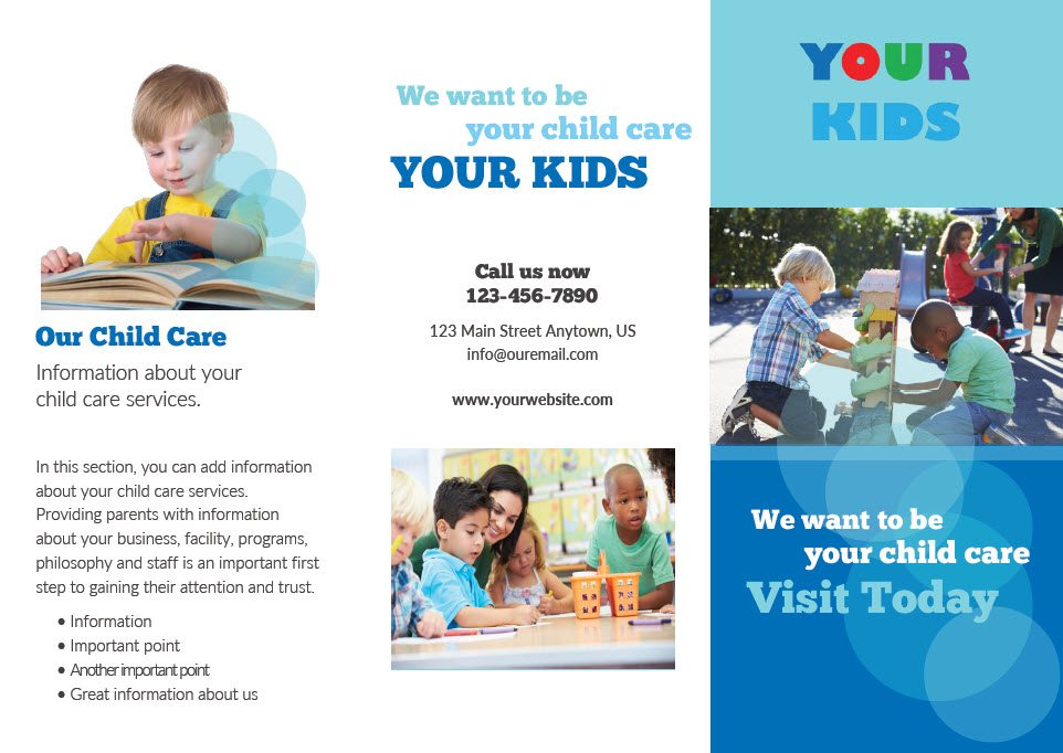 cco child care brochure template 4 outside