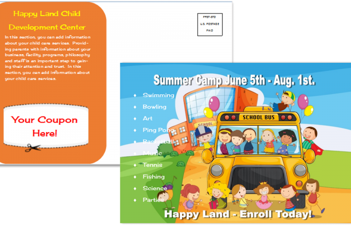CCO Template 12 Summer Camp Front and Back