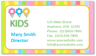 child care business cards, child care folders, child care marketing, preschool marketing, daycare marketing, child care folders, child care presentation folders, child care pocket folders, child care letterhead, child care stationery, child care envelopes, child care brochures, child care postcards, child care print marketing, child care postcard marketing, marketing child care with postcards,