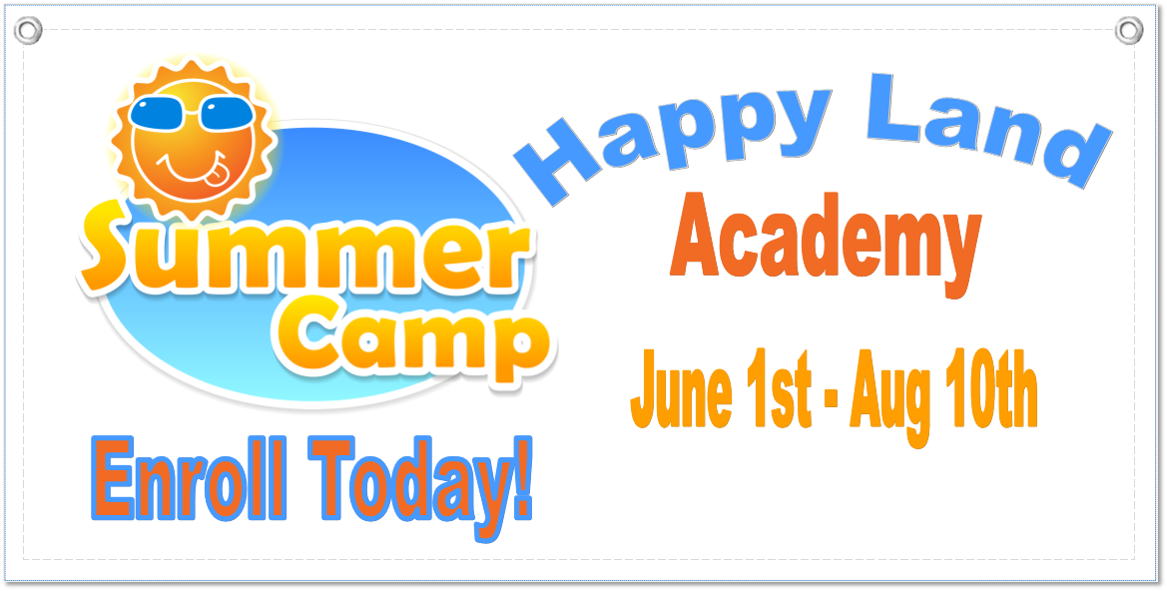 Summer Camp Banner Template 1