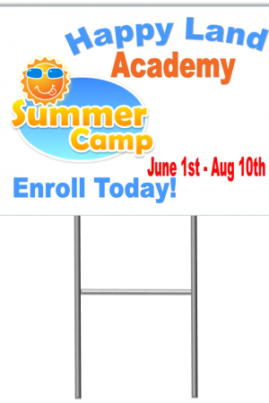Summer Camp Yard Sign Template 1 with stand medium
