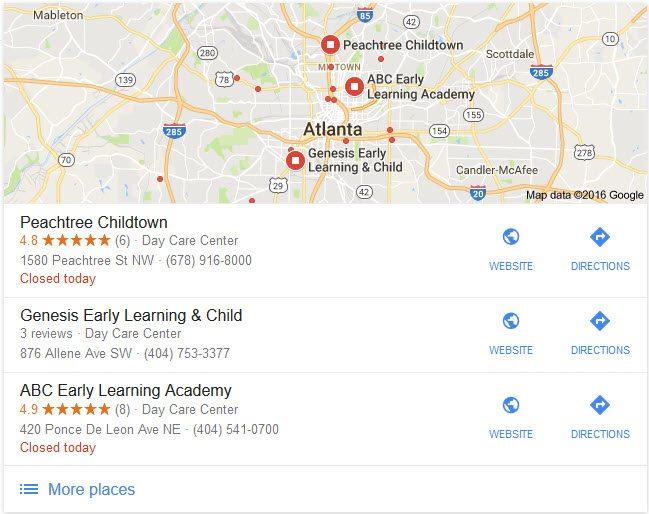 atlanta-child-care-google-my-business
