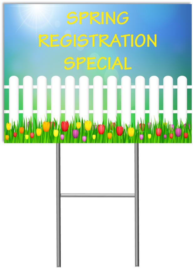yard sign template Spring Special Yard Sign Template 1 - Child Care Marketing Yard Signs